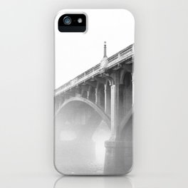Gervais Street Bridge in Fog iPhone Case