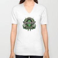 lovecraft V-neck T-shirts featuring Lovecraft Dark Spirits by Rebekie Bennington