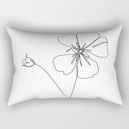Botanical floral illustration line drawing - Geranium Rectangular Pillow