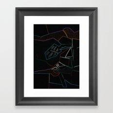 Cubist Trails Framed Art Print