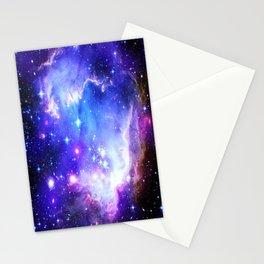 Galaxy Nebula Blue Stationery Cards