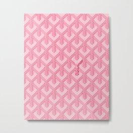 Goyard Pink Metal Print