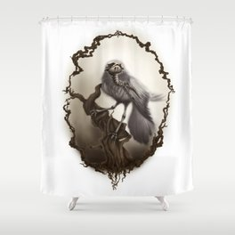Corvus Cervus Lepus Series - Corax Shower Curtain
