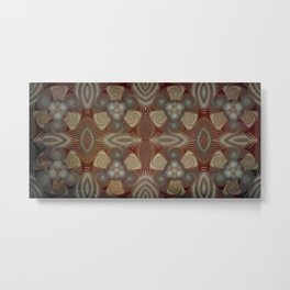 Whirling spirals in earthy early painting style Metal Print