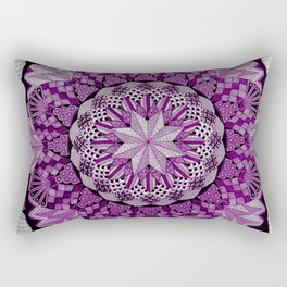 Asexual Pride Faded Flower Mandala Rectangular Pillow