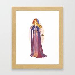 Redesigned Art Nouveau Aurora Framed Art Print