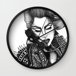 GIRL WITH A TELEPHONE Wall Clock