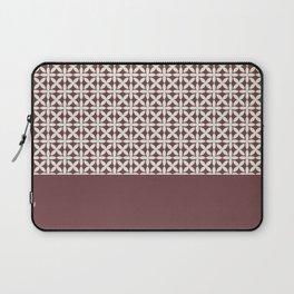 Pantone Cannoli Cream Square Petal Pattern on Pantone Red Pear Laptop Sleeve