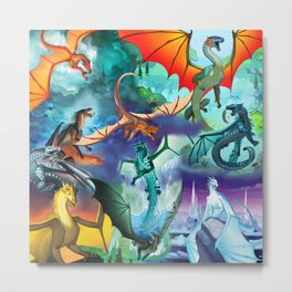 Wings Of Fire Character Metal Print