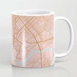 Pink and gold Manila map Coffee Mug