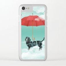 Dachshund chute Clear iPhone Case