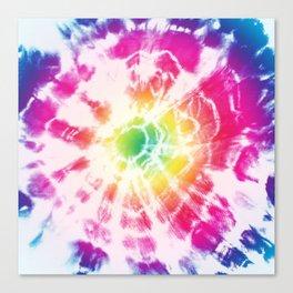 Tie-Dye Sunburst Rainbow Canvas Print
