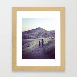 Brother's Mountain Framed Art Print