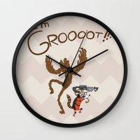 regular show Wall Clocks featuring Regular Galaxy by ChrisLufthound