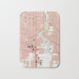 Fort Worth Texas Map (1995) Bath Mat