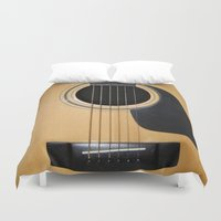 guitar Duvet Covers featuring Guitar by Nicklas Gustafsson