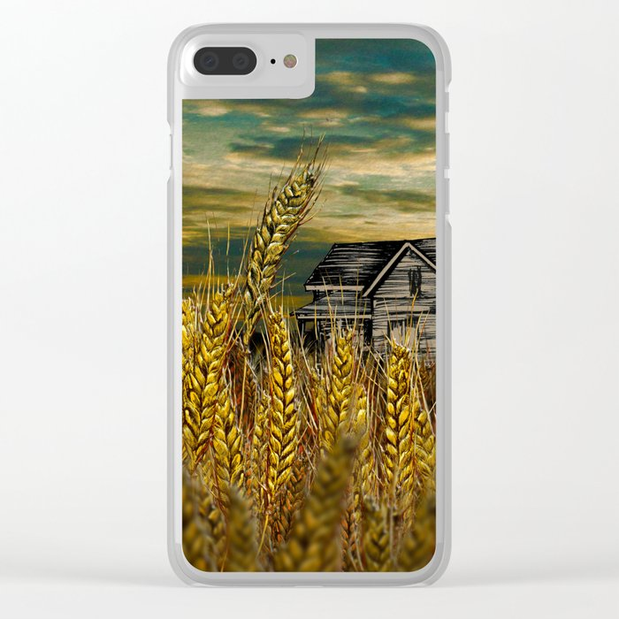 Farm House in Wheat Field Clear iPhone Case