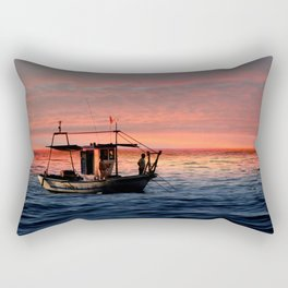 Fishing at Sunset Rectangular Pillow