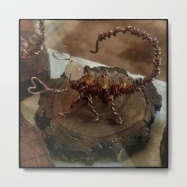 Wire Scorpion Metal Print