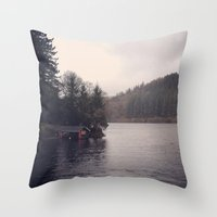 cabin Throw Pillows featuring Cabin by Belle and Alaska