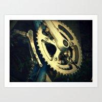 metal gear Art Prints featuring Gear by Gracemphotography