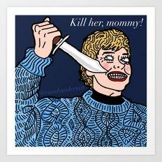 Female Trouble Series: Mrs. Voorhees from Friday the 13th Art Print