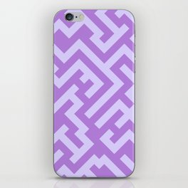Pale Lavender Violet and Lavender Violet Diagonal Labyrinth iPhone Skin