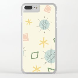 Atomic Age Planet Art Clear iPhone Case