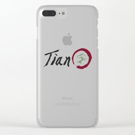 tian design 2 Clear iPhone Case