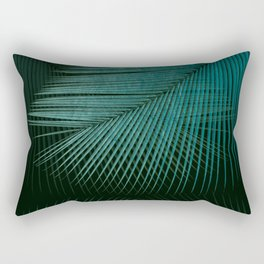 Palm leaf synchronicity - twilight teal Rectangular Pillow