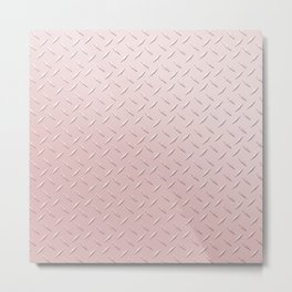 Diamond Plate Pink Metal Print