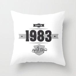 Born in 1983 Throw Pillow