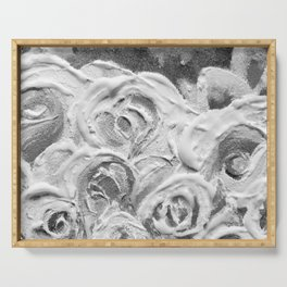 Roses on Fire In the Evening Rainbow Serving Tray