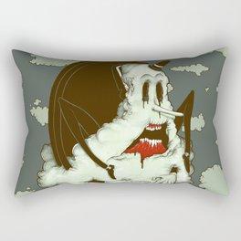 Creep Cloud Face Melt Rectangular Pillow