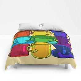 Tea Cups and Coffee Mugs Spectrum Comforters