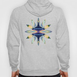 Geometric Patterned Flowers Hoody