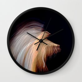 Abstract Angel Ghost Wall Clock