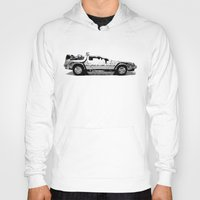 delorean Hoodies featuring Delorean Low poly by Angel Decuir