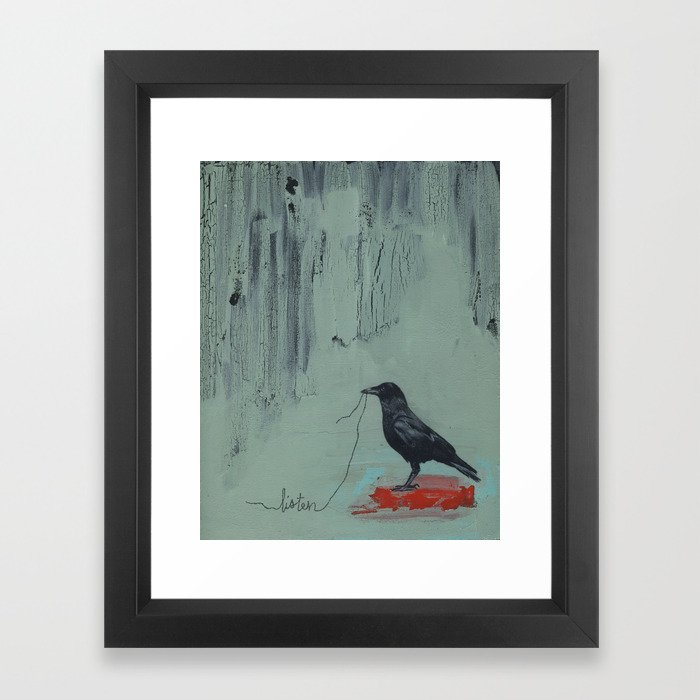 Listen Framed Art Print