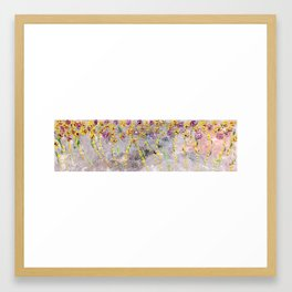 Yellow Waterful Spinning Flowers - Flower Waterful collection by (c) Janet Watson Art Framed Art Print