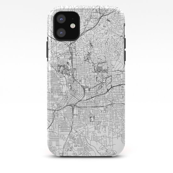 Atlanta White Map by multiplicity
