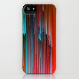 California Dreamin' - Abstract Glitch Pixel Art iPhone Case