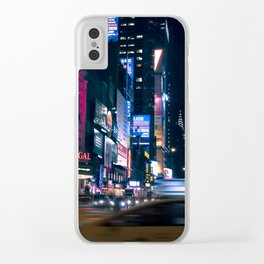 Neon Signs in New York, USA / Night City Series Clear iPhone Case