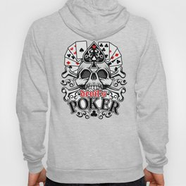 Poker coat of arms with skull and playing card Hoody