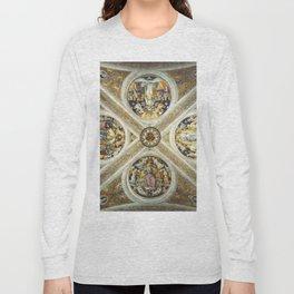 """Raffaello Sanzio da Urbino """"Ceiling of the Stanza della Segnatura"""", 1508-1511 Long Sleeve T-shirt"""