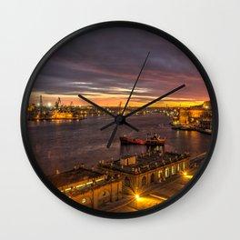 Valletta Twylight  Wall Clock