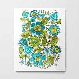 Botanical Doodles Metal Print