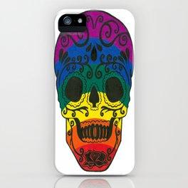 rainbow skull iPhone Case
