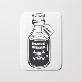 Mass Media Do not Swallow Funny Gift Bath Mat