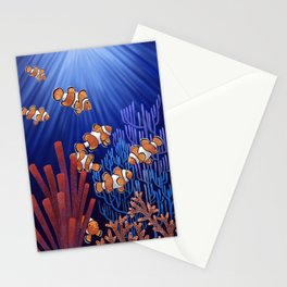 Clown Fish tank Stationery Cards